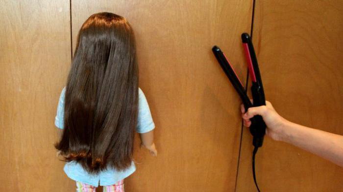 как выпрямить волосы кукол монстр хай